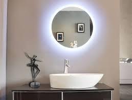 bathroom wall mirror mirrors ideas round with light prepare lights