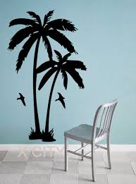 online get cheap giant wall stickers aliexpress com alibaba group palm trees tropic landscape giant wall sticker vinyl art decal window silhouette stencil living room decor