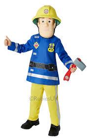fireman sam boys fancy dress firefighter uniform book week kids