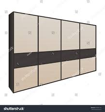 sliding door wardrobe bedroom dressing room stock vector 709907122