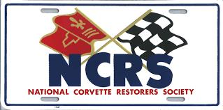 national corvette restorers society ncrs license plate 9 95 national corvette restorers society