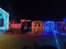 christmas lights train ride child s train ride picture of santa s wonderland college station