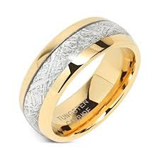 wedding gold rings mens wedding bands tungsten gold rings comfort fit imitated