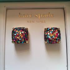 glitter stud earrings kate spade nwt kate spade multi colored glitter stud earrings