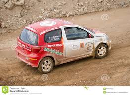 toyota rally car toyota yaris rally car editorial photography image of codriver