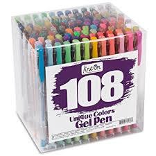 amazon com lineon 108 colors gel pens set gel pen for