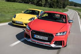 2018 audi tt rs vs 2017 porsche 718 cayman s page 1 general
