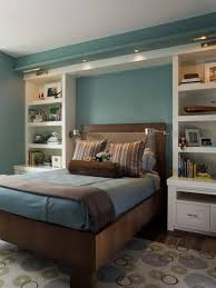 Small Master Bedroom Design White Wall Bookcase And Wood Beds Furniture In Modern Master