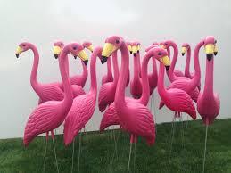 30 pink yard flamingos large garden outdoor