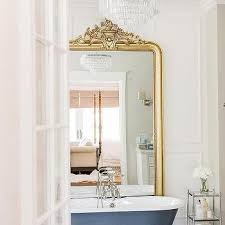 Julian Apothecary Floor L Gold Rococo Bathroom Floor Mirror Design Ideas