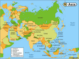 Korea Map Asia by Text
