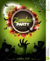 halloween themed background free vector illustration on a halloween zombie party themeon green