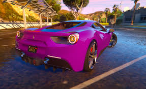 purple ferrari ferrari 488 gtb 2016 hq replace gta5 mods com