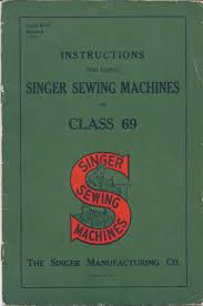 1939 singer sewing machine instruction manual model class 69