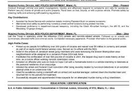 security officer resume leading professional police officer cover