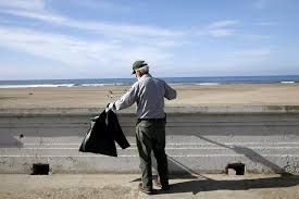 to reduce ocean beach trash park service removes garbage bins