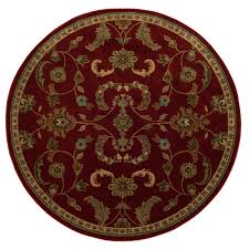 Round Red Rugs Shop Oriental Weavers Of America Monarch Round Indoor Tufted Area