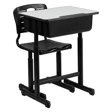 Height Adjustable Desk Reviews by Flash Furniture Adjustable Height Student Desk And Chair With