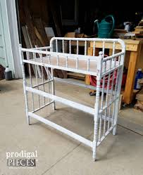 Metal Changing Table Repurposed Changing Table Potting Bench Prodigal Pieces