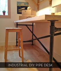 Free Wood Office Desk Plans by Awesome Diy Pipe Table Plus Free Downloadable Plans Pipe
