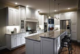island makeover in neutrals white wood and stock narrow kitchen