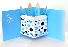 card invitation design ideas pop up greeting cards square blue