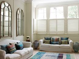 living room living room shutters modern on intended for plantation