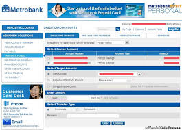how to apply for metrobank online banking service metrobankdirect
