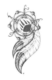 bear claw in dreamcatcher tattoo design in 2017 real photo