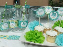 Baby Boy Shower Decorations by Blue And Green Baby Shower Decorations Sorepointrecords