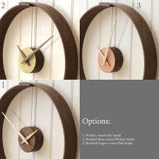 steam bent wooden clock by layertree notonthehighstreet com