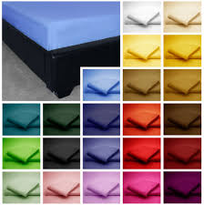 Poly Cotton Extra Deep Fitted Bed Sheet Plain Dyed Single FT - Fitted bunk bed sheets