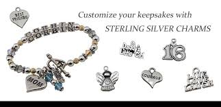 Custom Charms Family Charms In Sterling Silver Custom Birthstone Jewelry And