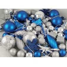 Ice Blue Christmas Tree Decorations by Christmas Polyvore