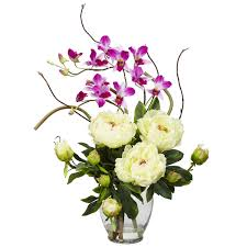 white peony orchid centerpiece wedding centerpieces