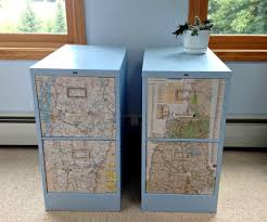 Map Cabinet Quardecor File Cabinet Revamp Snazzy Sister State Storage