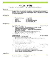 american resume sles for hotel house keeping housekeeping aide resume sle no experience resumes livecareer