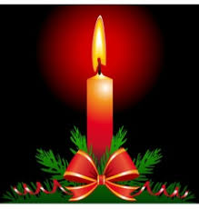 christmas candle royalty free vector image vectorstock