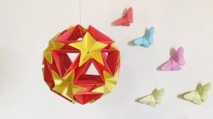 how to make home decor crafts paper ball u2013 how to make a origami kusudama flower ball u2013 diy home