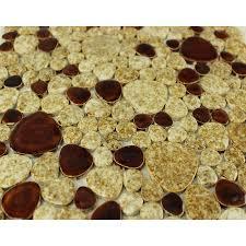 Pebble Tile Backsplash Heartshaped Ceramic Tile Stickers Kitchen - Pebble backsplash
