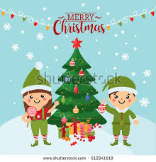 merry christmas greeting card cute kids stock vector 512841619