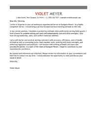 ideas collection cover letter sample for hospitality position with