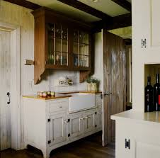 white kitchen with distressed cabinets 35 best farmhouse kitchen cabinet ideas and designs for 2021