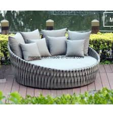 china outdoor furniture weaving daybed for hotel china day bed sunbed