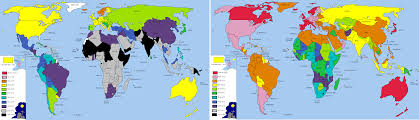 World Map 1950 Events Europe And International Organisations