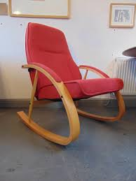 Knoll Rocking Chair Vintage 1970 U0027s Danish U0027zero U0027 Rocking Chair By Verikon Beech