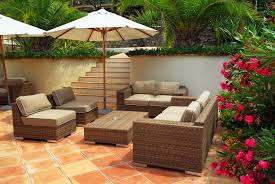 Tropical Patio Design Patio Spanish Tile Tropical Hupehome