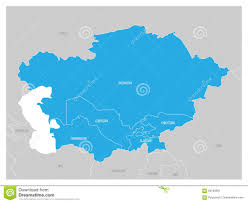Tajikistan Map Map Of Central Asia Region With Blue Highlighted Kazakhstan