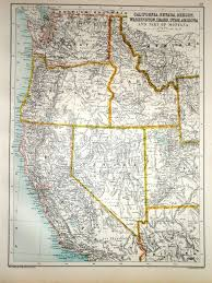 map of oregon nevada 1891 map california nevada oregon washington idaho utah arizona