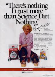 betty white in a 1988 ad for science diet pet food found in